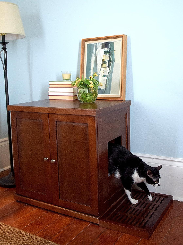 Amazon.com : The Refined Feline RLB MA Wood Cat Litter Box : Pet Supplies