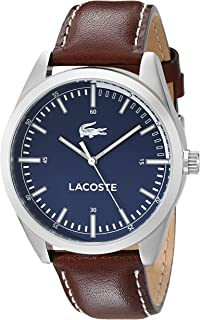 Lacoste Mens 2010742 Montreal Analog Display Japanese Quartz Brown Watch