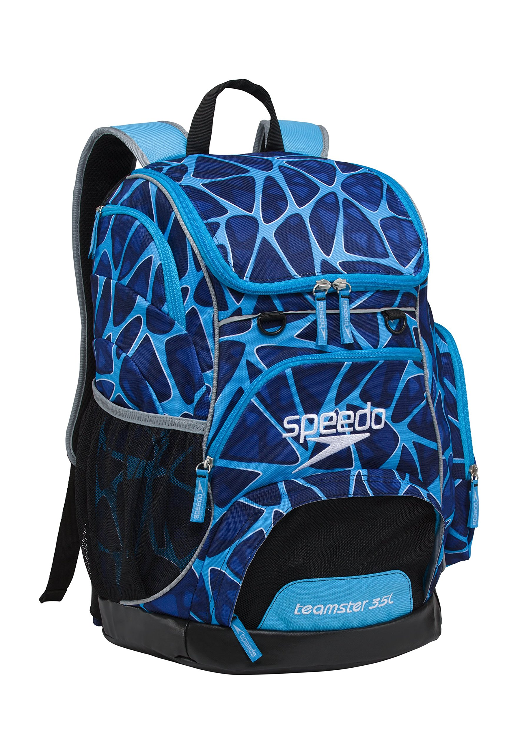 Speedo Printed Teamster 35L Backpack, Charged Blue, 1SZ