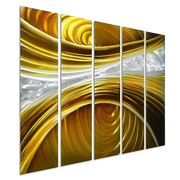 Amazon.com: Pure Art Infinite Brown - Abstract Metal Wall Art ...