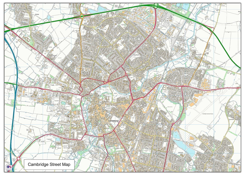 Cambridge Street Map – 140 x 100 cm (ca.)
