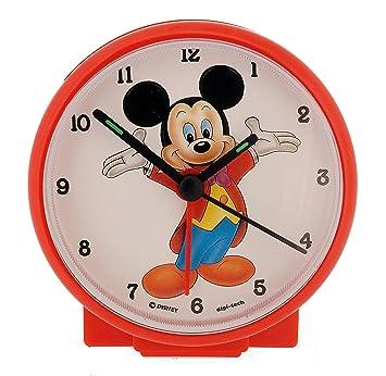 Disney Niños Reloj Despertador analógico con una Digital Reloj de Pulsera, plástico, Rot Mickey Mouse, 10 x 4 x 10 cm: Amazon.es: Hogar