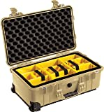Pelican 1514 Tan Case With Padded Dividers and
