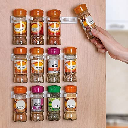 amazon com home it spice rack spice racks for 20 cabinet door use rh amazon com inside kitchen cabinet spice rack diy inside cabinet spice rack