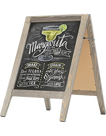 522a3dbb05b MyGift Rustic Stained Vintaged Wooden Freestanding A-Frame Double-Sided  Chalkboard Sidewalk Sign