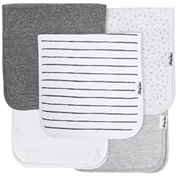 4-Pack Newborn Baby Burp Cloths Organic Cotton Soft Absorbent Towels Burping US