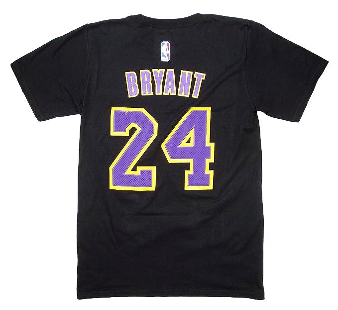 Kobe Bryant - Camiseta negra Adidas de Los Angeles Lakers de la NBA para hombre, con el nombre y el número del jugador., S, Negro: Amazon.es: Deportes y ...