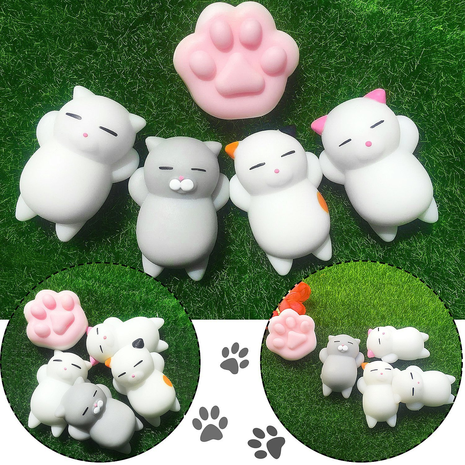 mini squishies kawaii  outee 16 pcs mochi animals squishy toys kawaii squishies mochi squishy