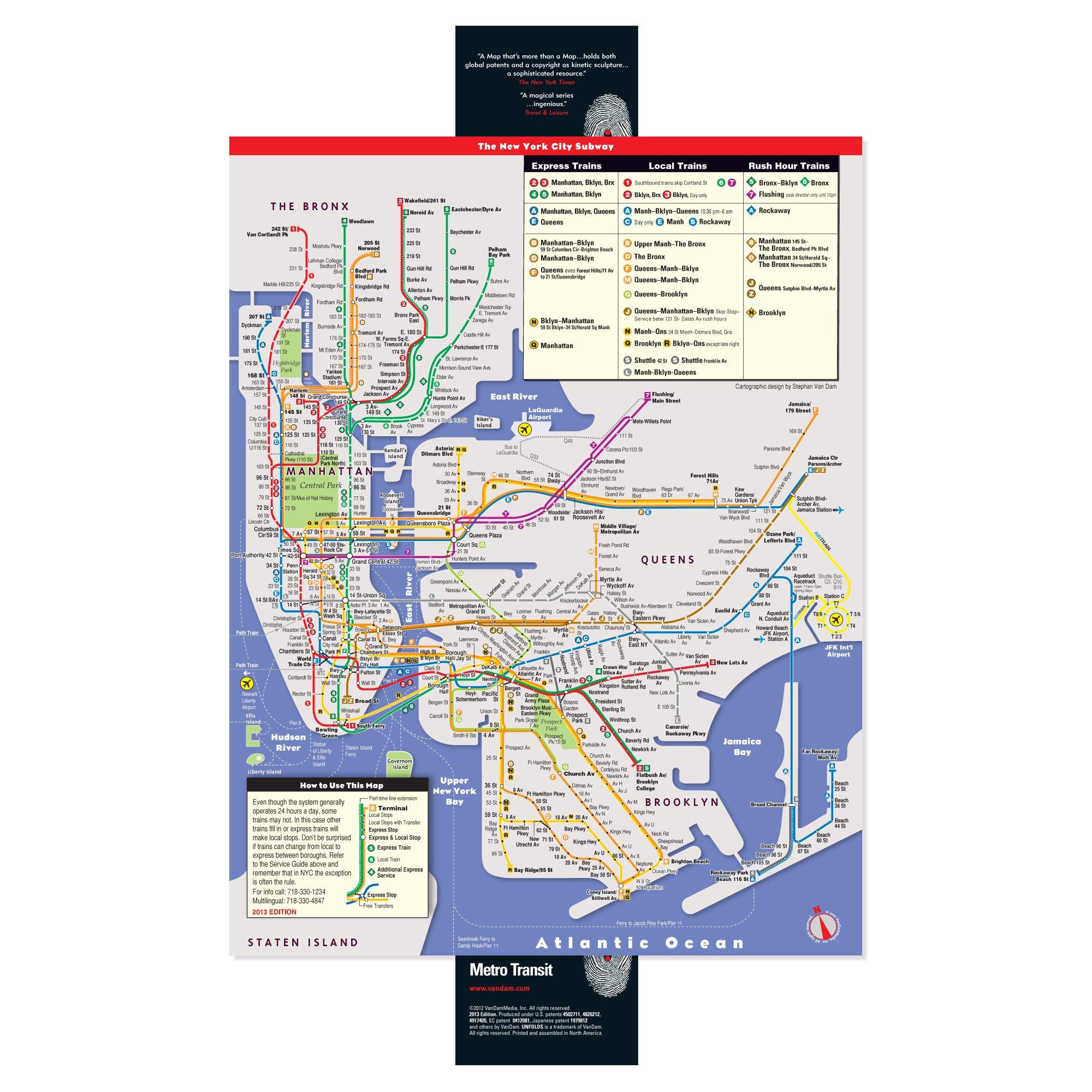 NYC Metro Transit Unfolds UnfoldsPopUp Series Stephan Van Dam - Nyc unfolds map
