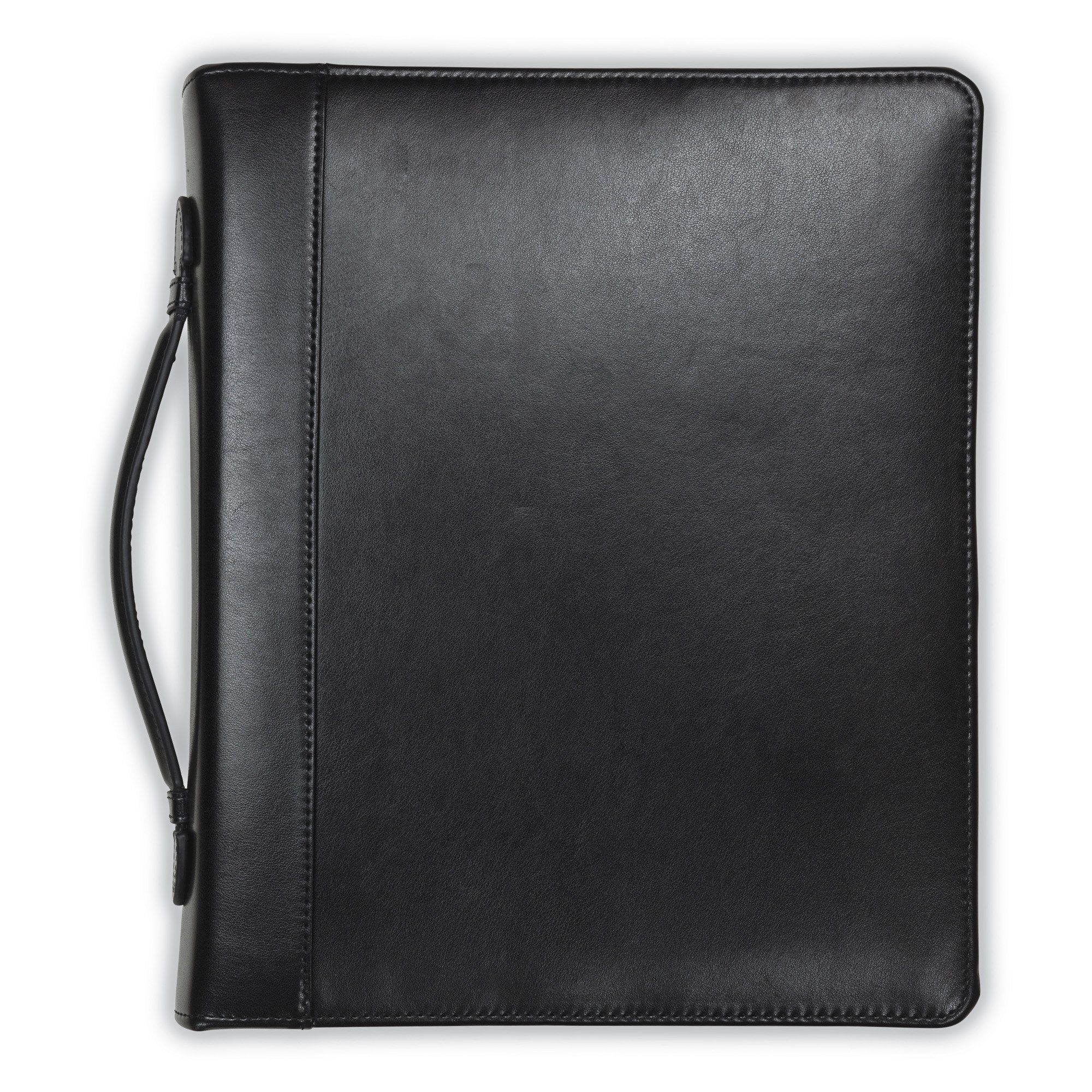 Samsill Regal Leather Padfolio Zipper 1 inch Ring Binder, Carry Handle, Interior 10.1 Inch Tablet Sleeve, Letter Size Writing Pad, Black by Samsill