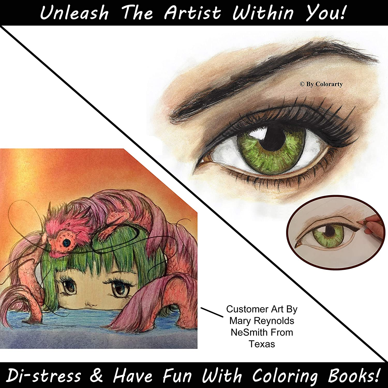 48 Vivid Watercolor Pencils /& Case Set Blending Brush /& Eraser Colored Pencils for Adults Ideal for Adult Coloring Books /& Art Pages Extender Inc Artist Grade 3.5mm Soft Cores Metal Sharpener