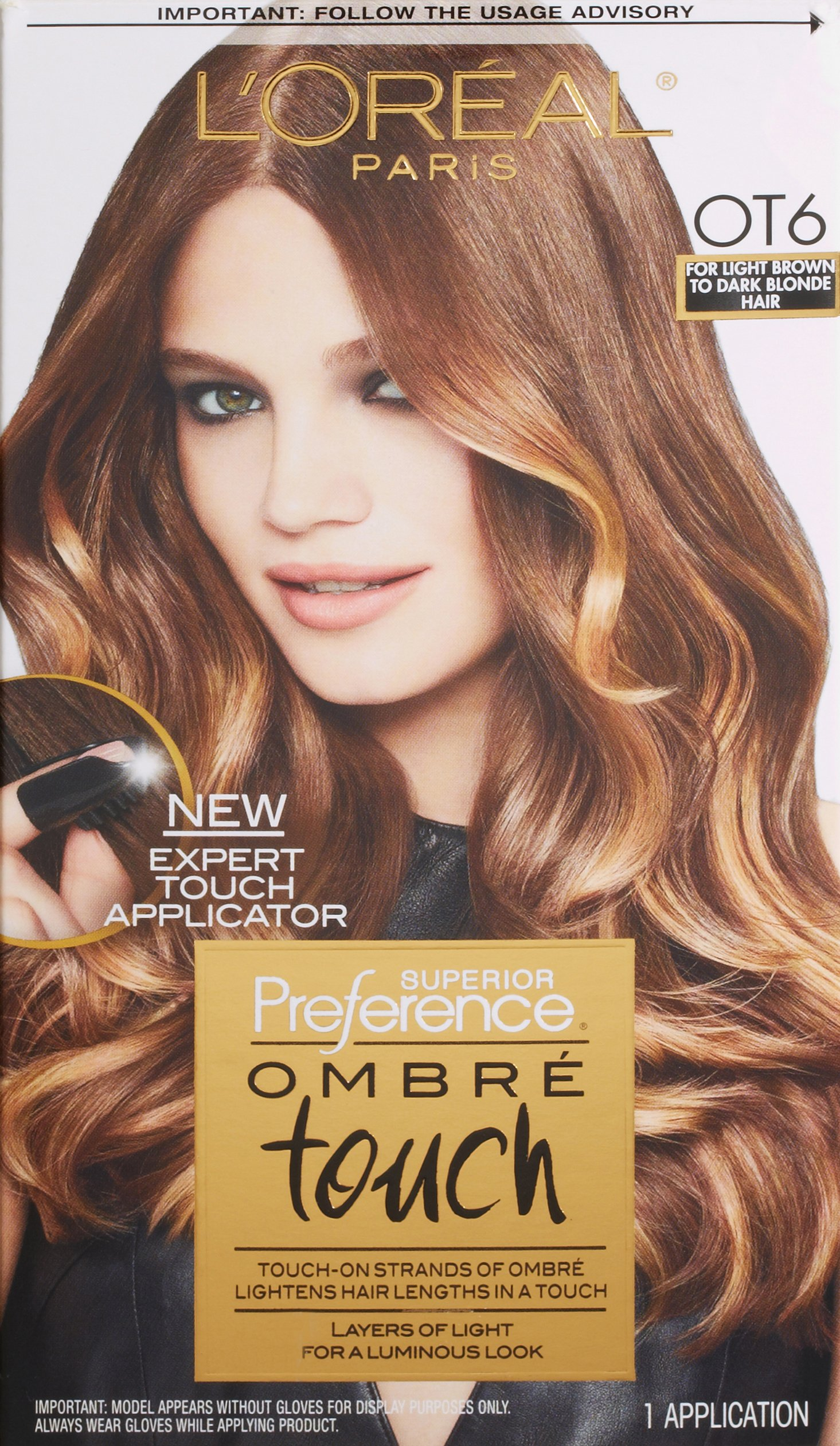 L'Oreal Paris Superior Preference Ombre Touch Hair Color, OT6 Light Brown to Dark Blonde Hair