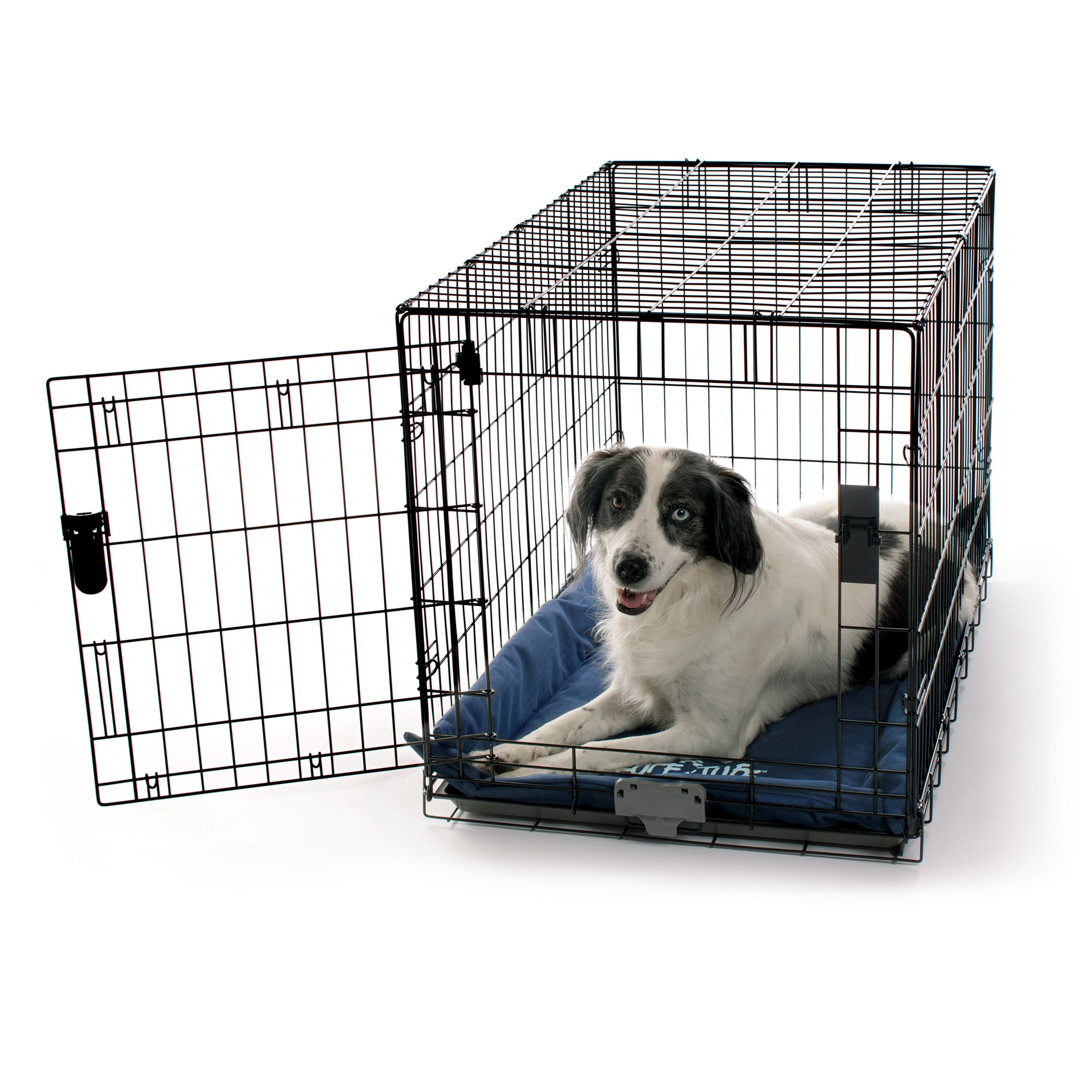 K&H Pet Products K-9 Ruff n' Tuff Crate Pad Large Navy Blue (25'' x 37'') - 1260 Denier Rip-Stop Polyester for Pets That Need Extra Tough Fabric