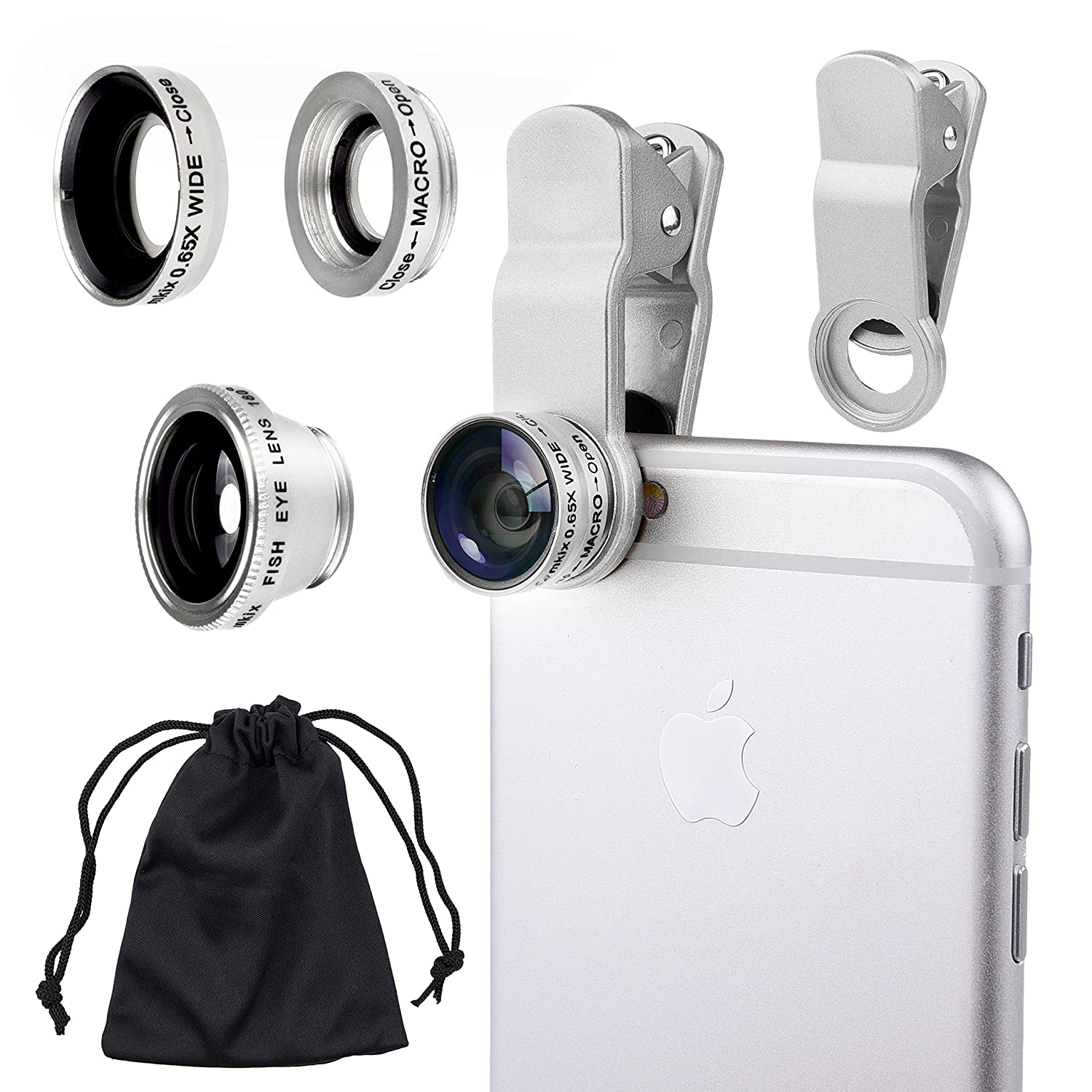 Amazon Universal 3 in 1 Camera Lens Kit for Smart phones including iPhone Samsung Galaxy HTC Motorola and More Tablets iPad