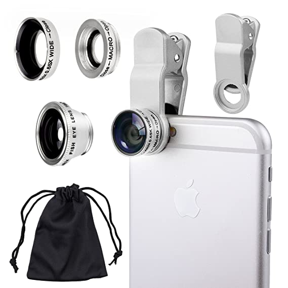 iphone lens kit iphone 6s plus universal in camera lens kit for smart phones including iphone samsung galaxy amazoncom