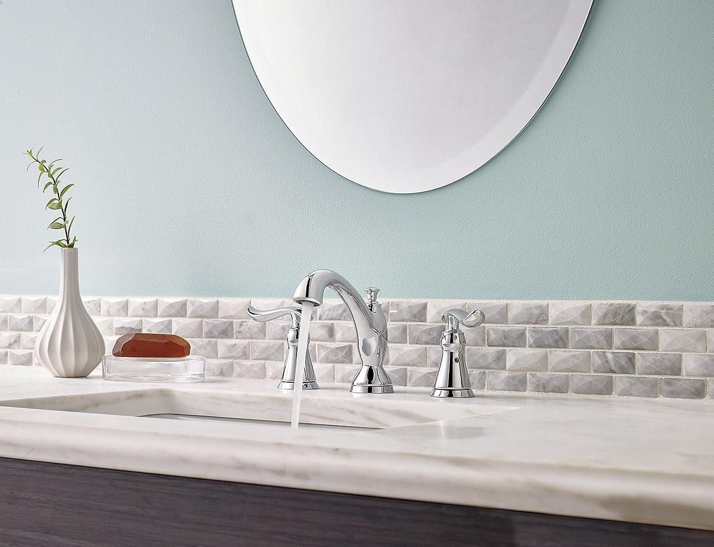Delta Faucet 3594-MPU-DST Linden Two Handle Widespread Bathroom ...