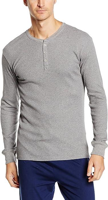 Men's 300ls Long Sleeve Henley 1p Long Sleeve Vest