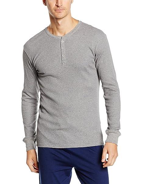 2580ac0f1ec Levi's 300 Strauss Ribbed Cotton Men's Long-Sleeve Henley T-Shirt, Grey  Melange