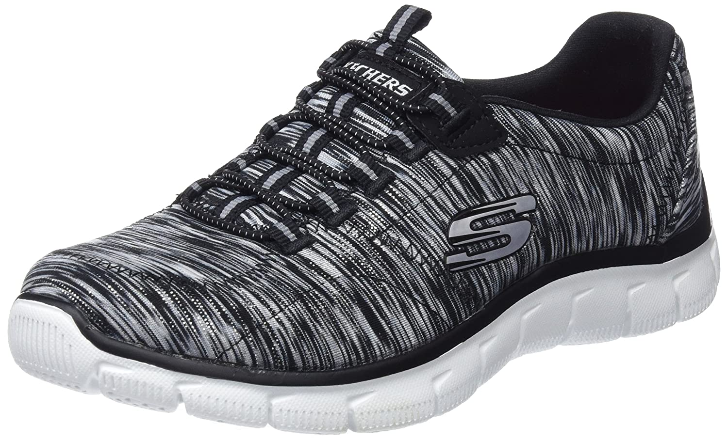 Skechers Empire-Game On, Zapatillas sin Cordones para Mujer 35.5 EU|Negro (Black/White)