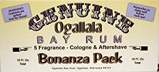 product image for Genuine Ogallala Bay Rum Bonanza! 1 two-ounce bottle each of: Genuine Ogallala Bay Rum Aftershave - Genuine Ogallala Bay Rum & Vanilla - Genuine Ogallala Bay Rum, Bay Rum, Limes & Peppercorns Aftershave - Genuine Ogallala Bay Rum, Bay Rum, Sage & Cedar Aftershave and our wonderful new fragrance – Genuine Ogallala Bay Rum & Sandalwood Aftershave.
