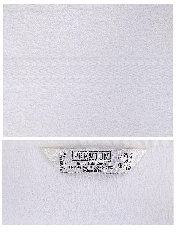 BETZ Set di 10 Guanti da Bagno Premium Misure 16 x 21 cm 100/% Cotone Grigio Antracite e Bianco