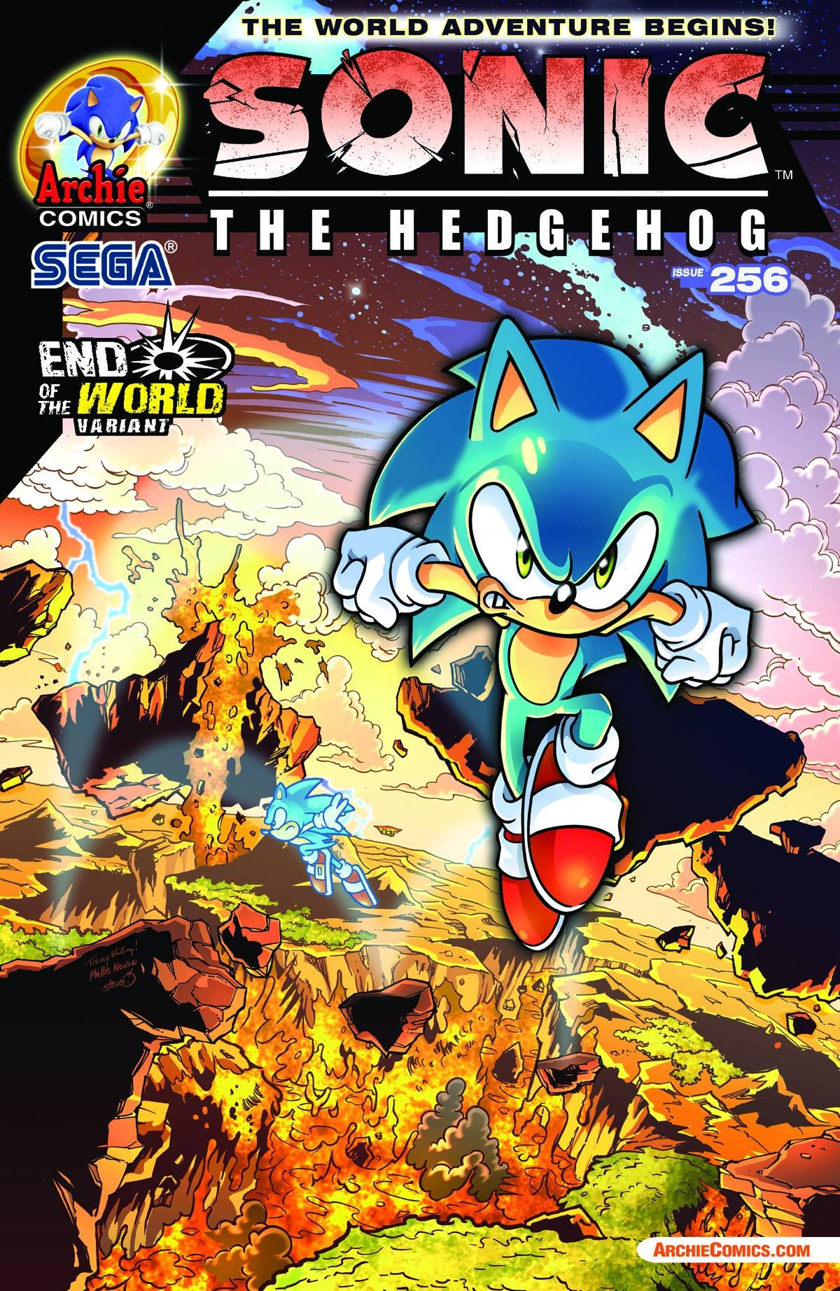 Sonic The Hedgehog 256 End Of The World Variant Cover Ian Flynn Amazon Com Books