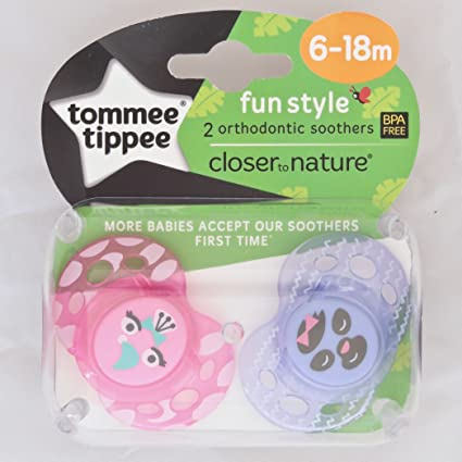 Tommee Tippee Closer To Nature: 2 x Chupete 6-18m (Rosado ...