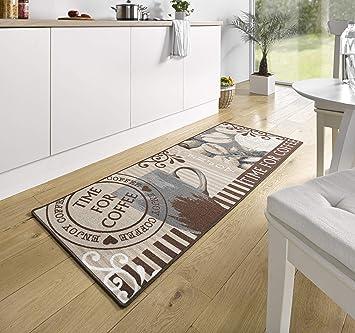 102372 Tapis De Cuisine Design Velours Inscription En Anglais