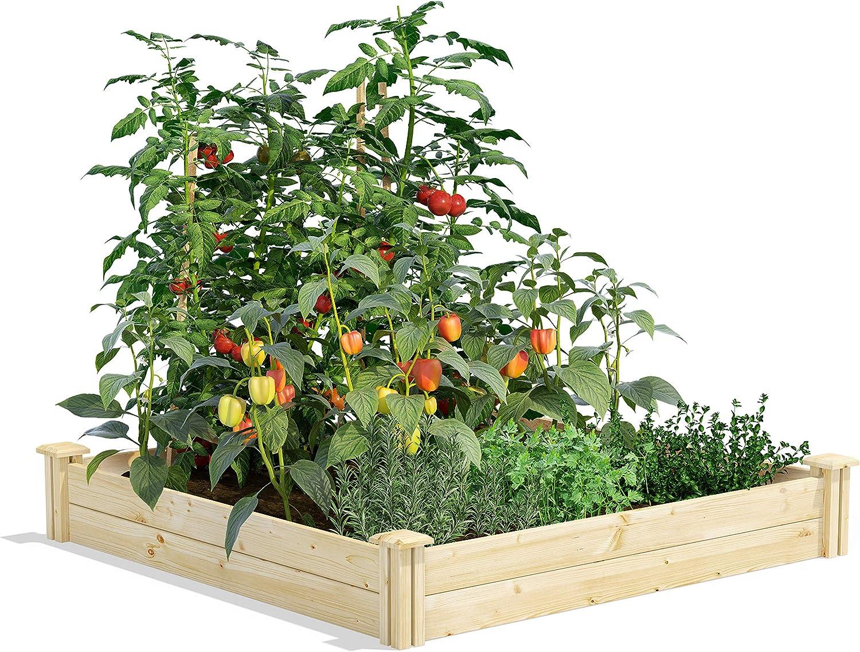 "Greenes Fence Original Pine Raised Garden Bed, 4' x 4' x 7"""