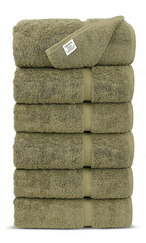 Luxury Premium Long-Stable Hotel & Spa Turkish Cotton 4-Piece Eco-Friendly Bath Towel Set (Wedgewood) Chakir Turkish Linens