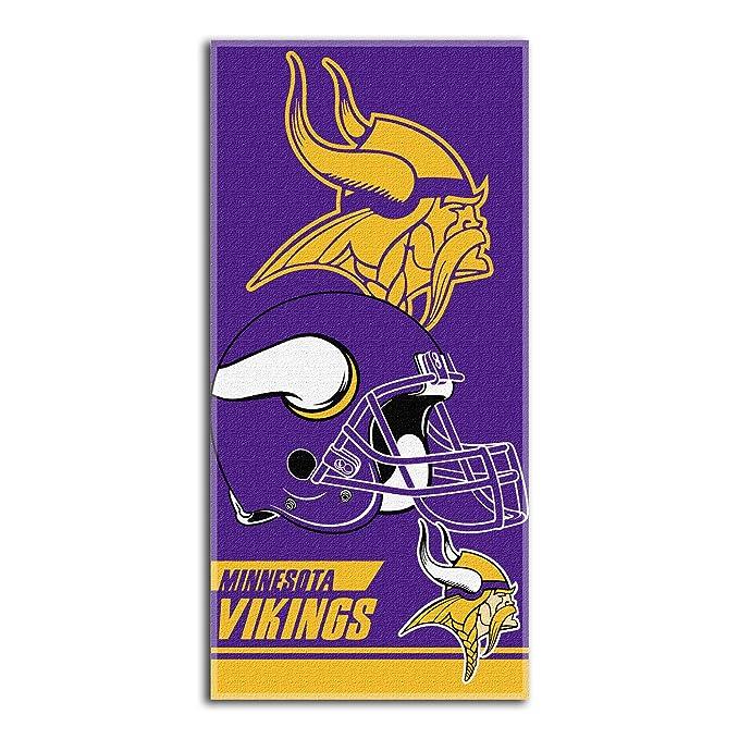 666139b5 Amazon.com : NFL Minnesota Vikings Double Covered Beach Towel, 28 x ...