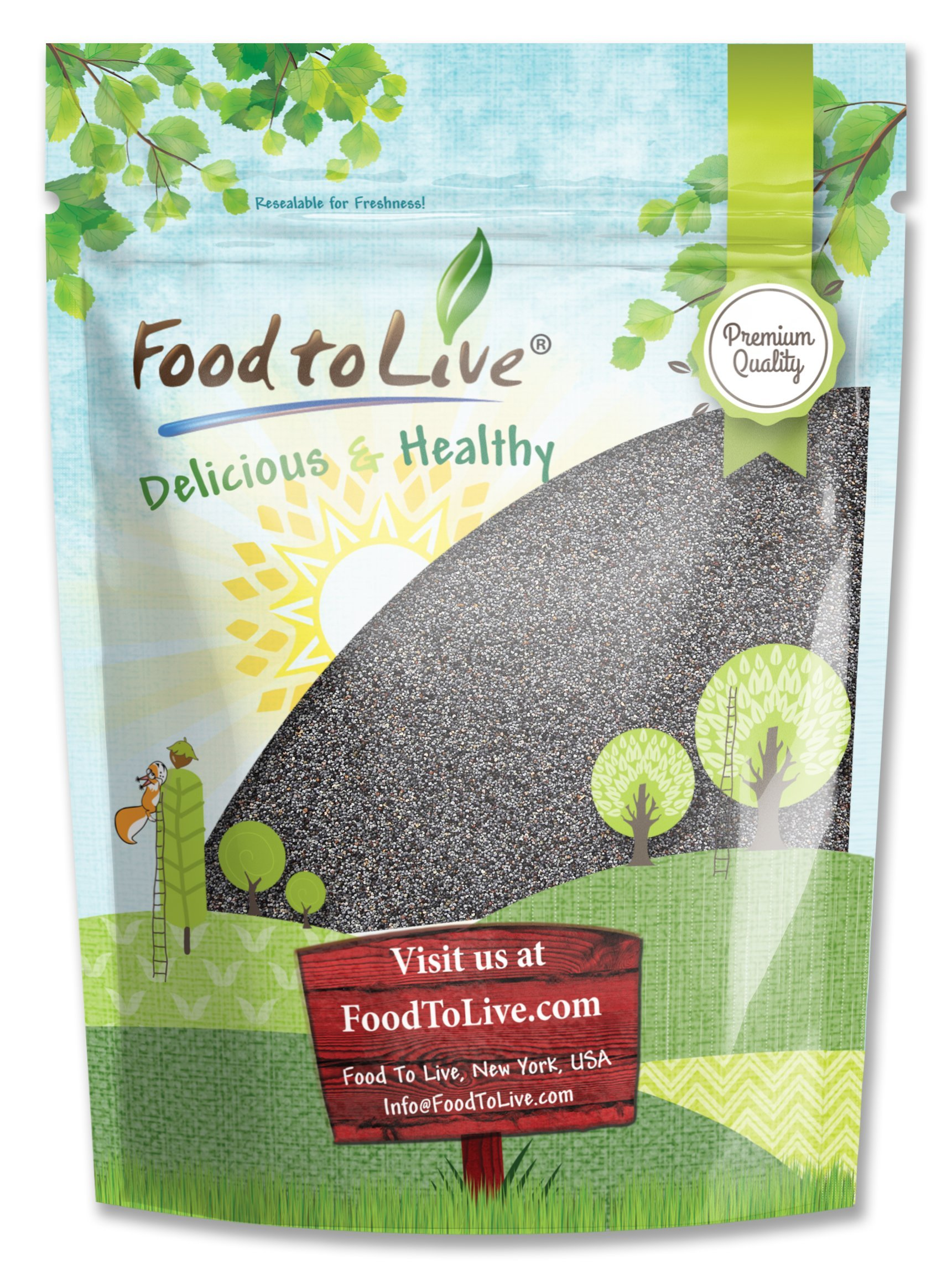 Poppy Seeds by Food to Live, Kosher, Bulk, Product of Spain — 2 Pounds