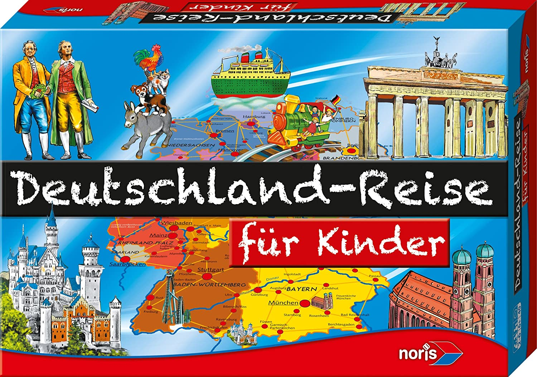 Noris Spiele 606013760 - Deutschland Reise für Kinder, Kinderspiel