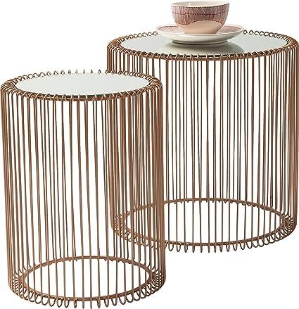 Steel 33.5 x 69.5 cm Kare Coffee Table Glass Copper