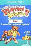 Yummi Bears Fiber Supplement Gummy Vitamin for Kids, 60 Count Gummy Bears
