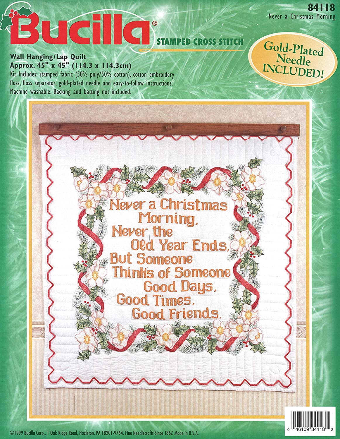Christmas Downtown America Collection Mini Picture By Bucilla Quick Needlepoint Vintage Small Needlepoint Kit Undated