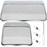 2 Pieces Flying Insect Screen RV Furnace Vent Cover (4.5 x 4.5 Inch)(8.5 x 6 Inch) Stainless Steel Mesh with…