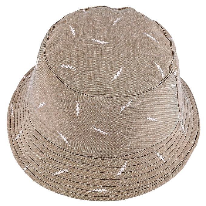 Amazon.com: moonsix Unisex sombrero del cubeta, sol plegable ...