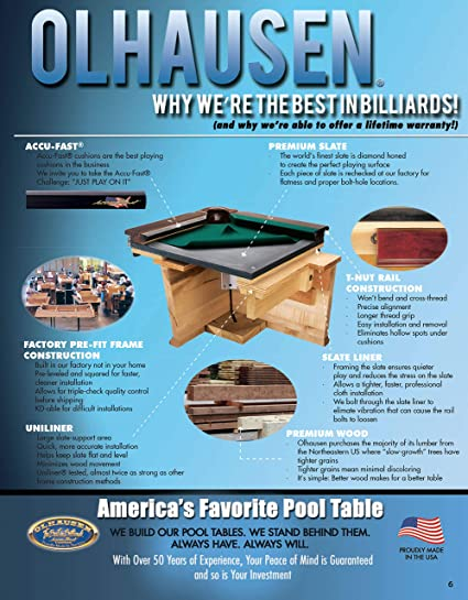 How To Install A Pool Table Slate Installation Home Billiards >> Olhausen Billiards 8 Ft Belmont Pool Table Matte Original Cherry Finish Includes Delivery Installation Cues Balls And Accessories Choice Of