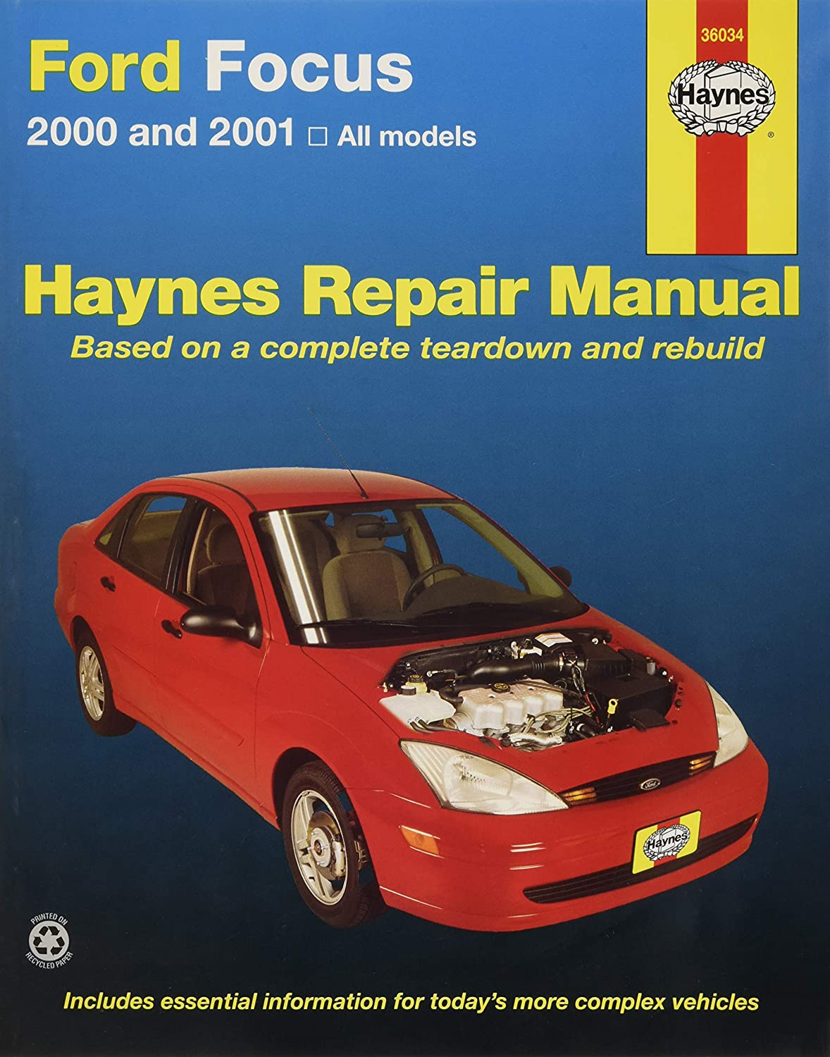 Amazon.com: Repair Manual; Ford/ Mercury; Focus 2000 Thru 2007; English;  Paper Format: Automotive
