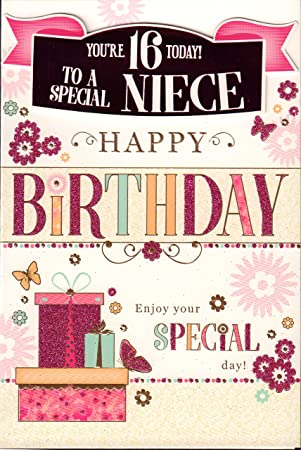 Niece 16th Birthday Card Youre 16 Today To A Special Niece