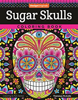 sugar skulls coloring book coloring is fun design originals - Day Of The Dead Coloring Book
