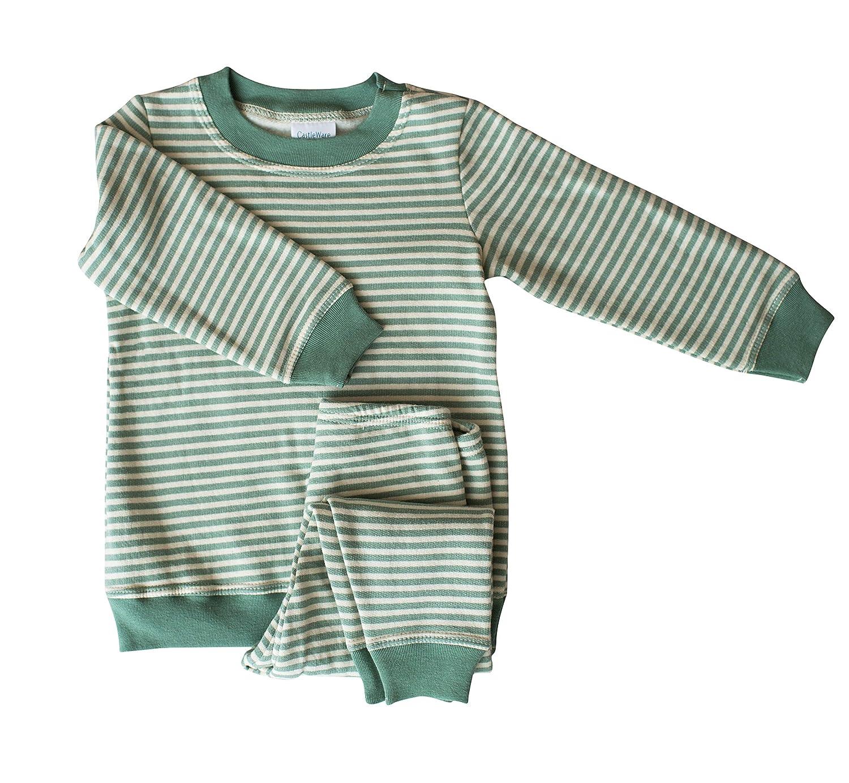 【海外 正規品】 CastleWare 2T Baby SLEEPWEAR ユニセックスベビー 2T Green CastleWare/Natural Stripe Green/Natural B07G68YF42, ビーレジェンド【公式】Real Style:be9c8713 --- a0267596.xsph.ru