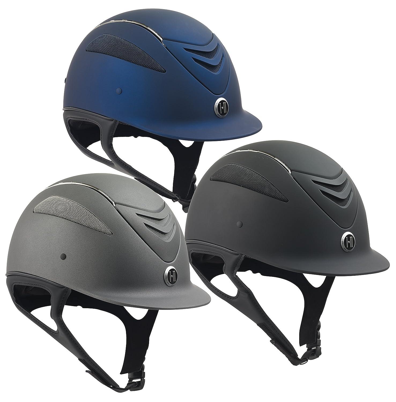 Navy Matte Large Navy Matte Large One K Defender Chrome Stripe Helmet