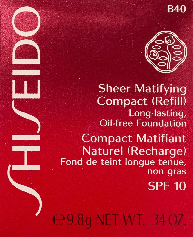 Shiseido Sheer Matifying Foundation Refill B40 Natural Fair Beige .34 Oz