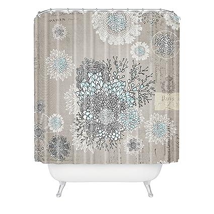 Amazon Deny Designs Iveta Abolina French Blue Shower Curtain