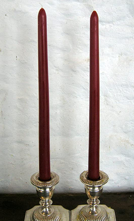 """12/"""" METALLIC TAPER CANDLE CRANBERRY 12 COUNT"""