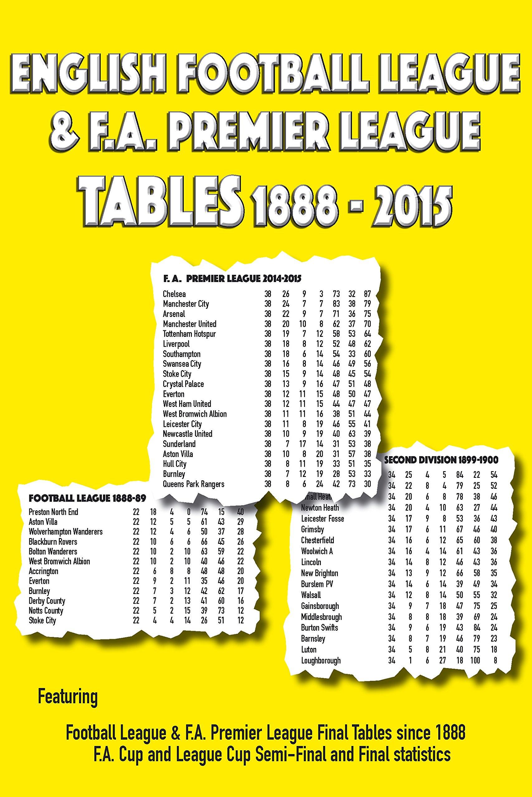 English Football League and F A  Premier League Tables 1888