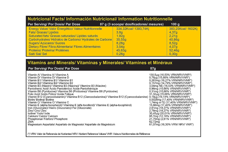 Genetor 1,5 Kg. Fresa - Matriz para la ganancia de fuerza, masa y definición muscular Comidas o Post-Entreno: Amazon.es: Salud y cuidado personal