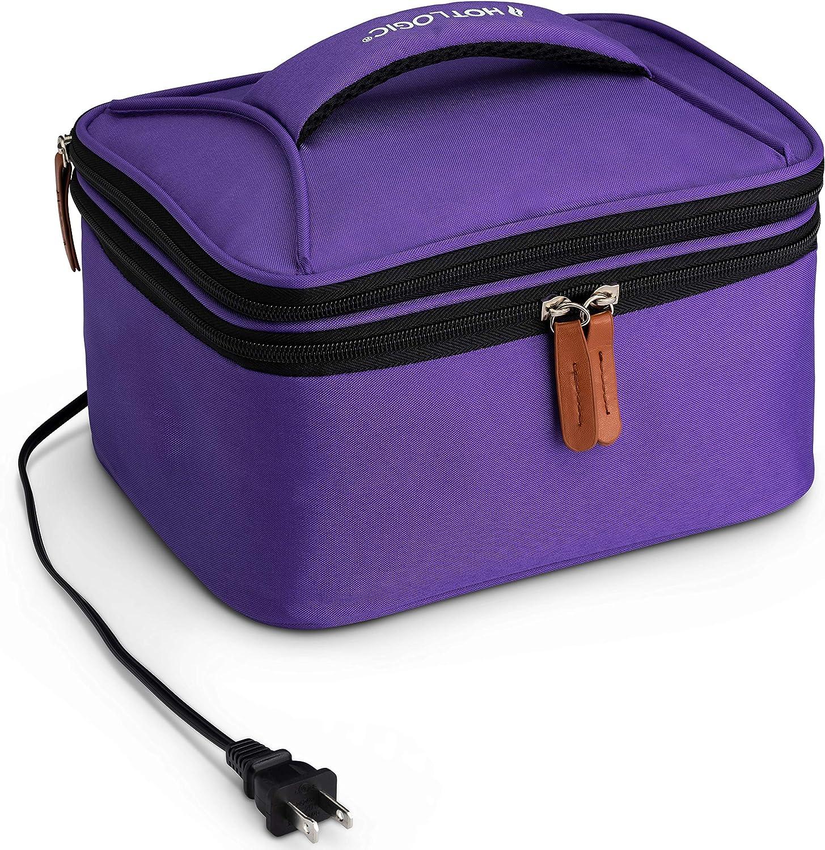 HotLogic 16801169-PUR Food Warming Tote Lunch Bag Plus 120V, Purple